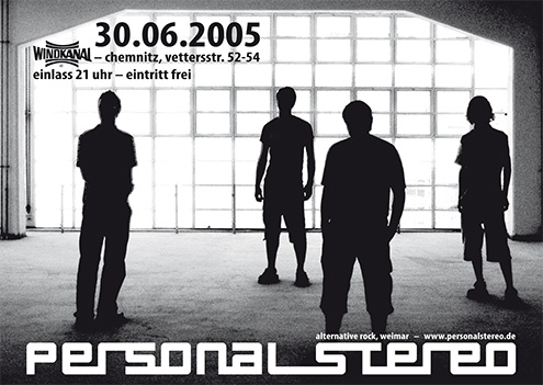 Flyer for the gig on June 30th, 2005